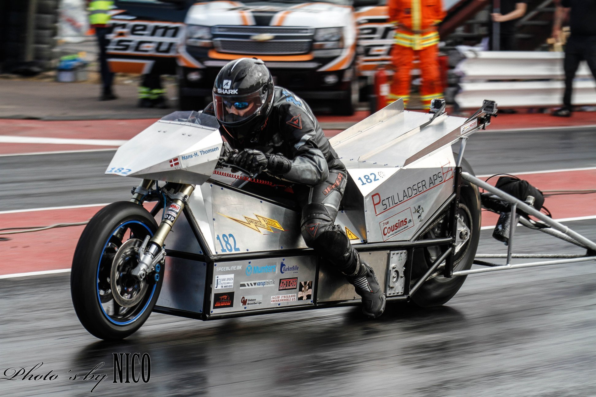 Silver Lightning electric dragbike